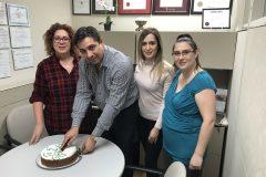 Montreal Office Vasilopita Cutting 2019